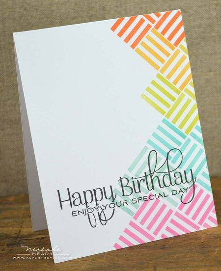 Happy Birthday Rainbow Card by Nichole Heady for Papertrey Ink (January 2013)