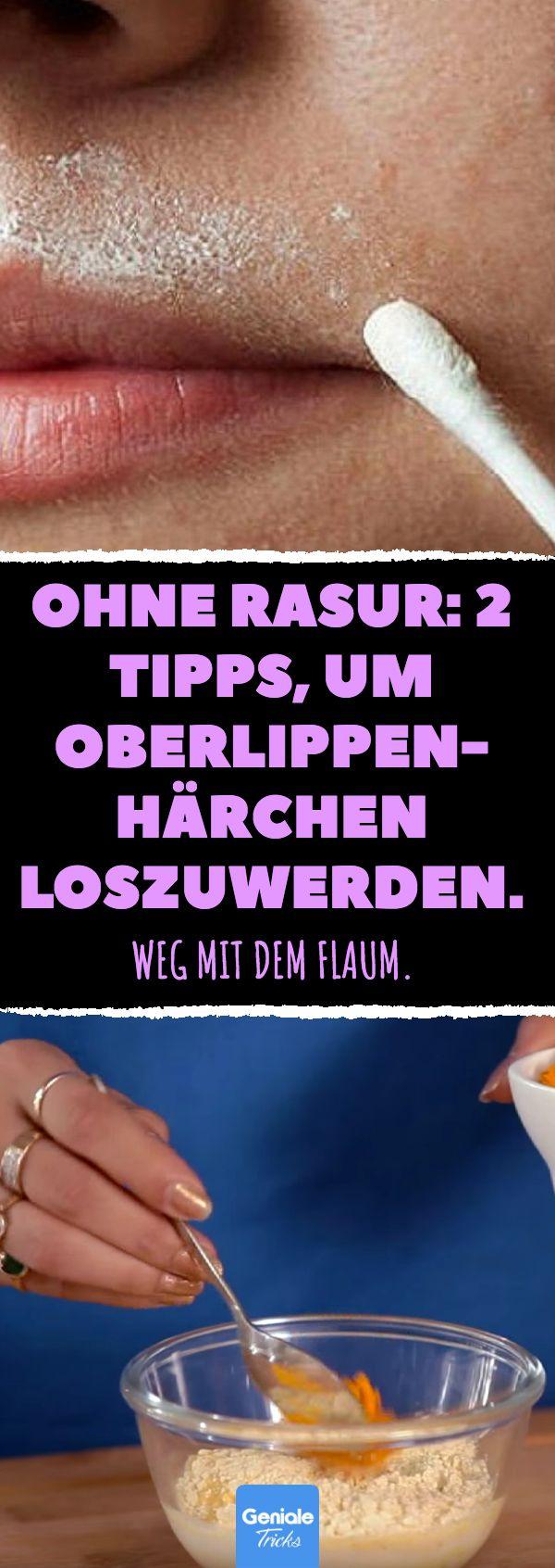 Ohne Rasur: 2 Tipps, um die Oberlippenhaare loszuwerden. #damenbart #shaving #h … – Beauty Hacks – DIY Tipps