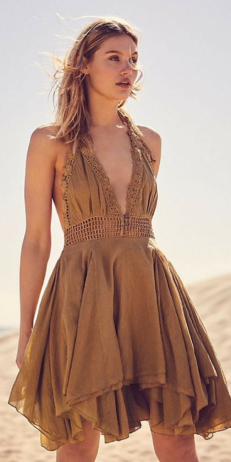 When Your Dress Is As Tan As You Are Come Through Bronze Boho Fashion Summer Dress Boho Fa Boho Summer Dresses Summer Fashion Outfits Boho Fashion Summer [ 1470 x 735 Pixel ]
