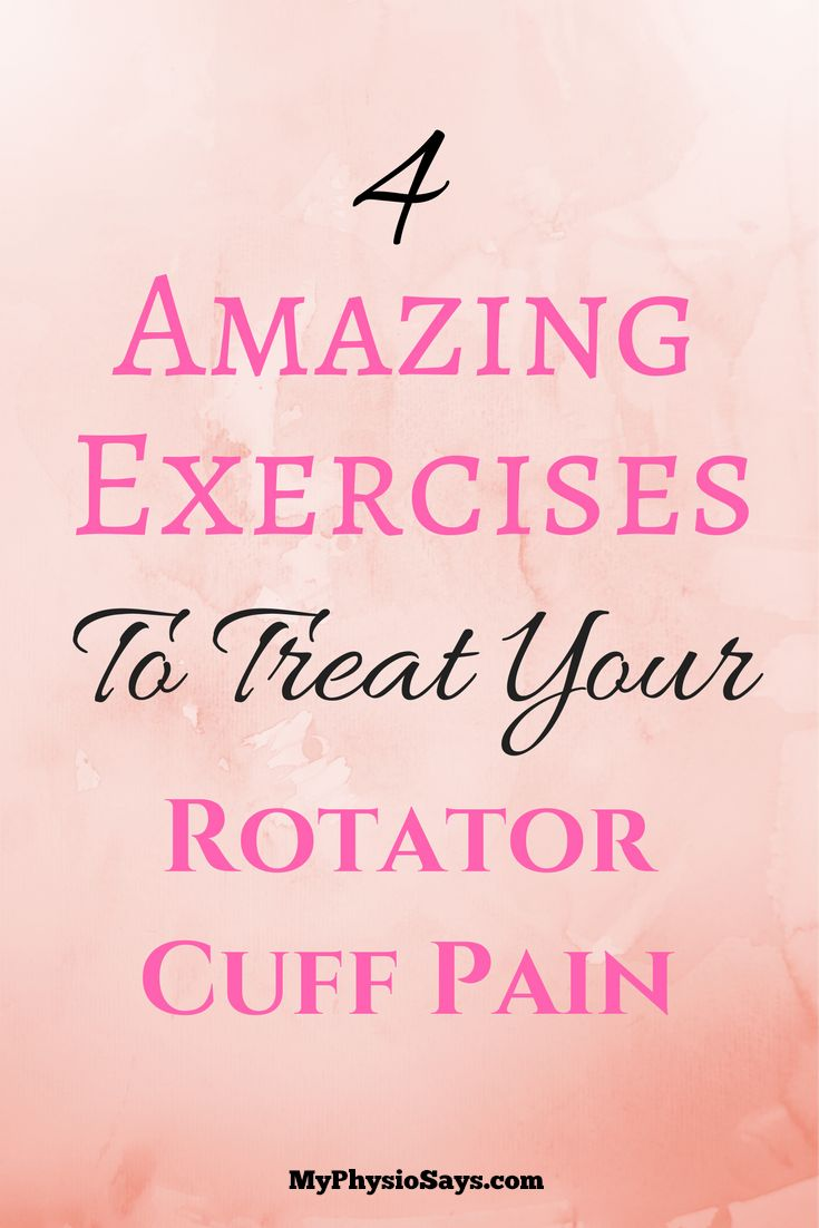 Exercises to help keep your shoulders healthy and your rotator cuff pain free.  Visit myphysiosays.com for more.