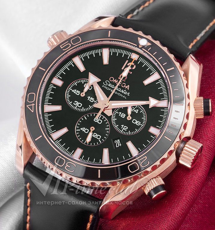 """Реплики часов Omega - Часы """"Seamaster Planet Оcean Chrono"""" от Omega модель № 185.40 купить по выгодной цене в интернет-салоне VipTimeClub"""