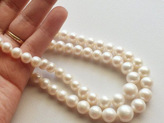 Pearls  Ivory Color Pearls Natural Fresh Water by gemsforjewels