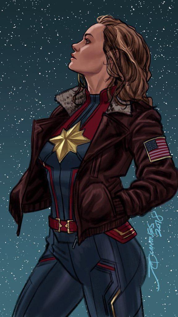 Captain Marvel Comic Iphone Wallpaper Marvel Merchandise Famous Comics Marvel Superheroes