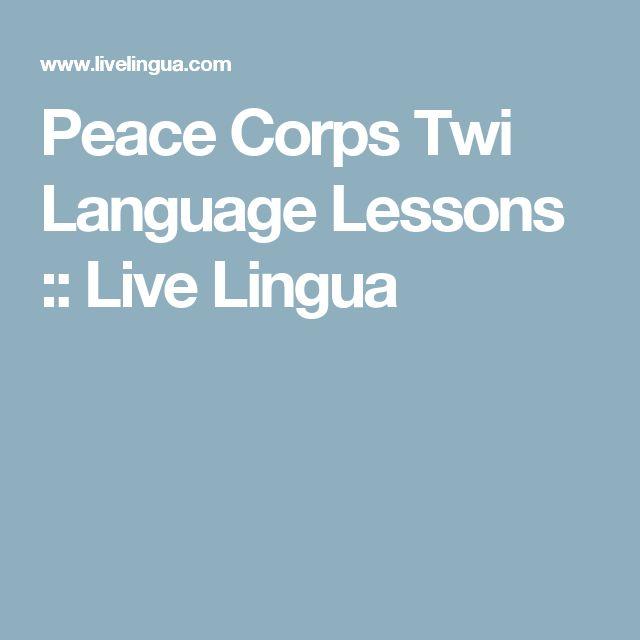 Peace Corps Twi Language Lessons :: Live Lingua