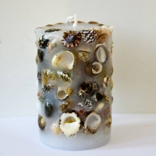 New Zealand Shell Cylinder Candle