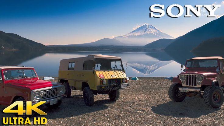 4K ULTRA HD - SONY 4K ULTRA HD TV Demo - Fuji Five Lakes Travel Lake Mot...