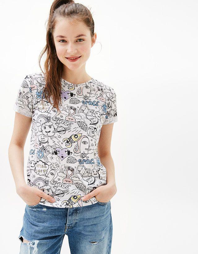 Women's T-shirts for Spring Summer 2017 | Bershka