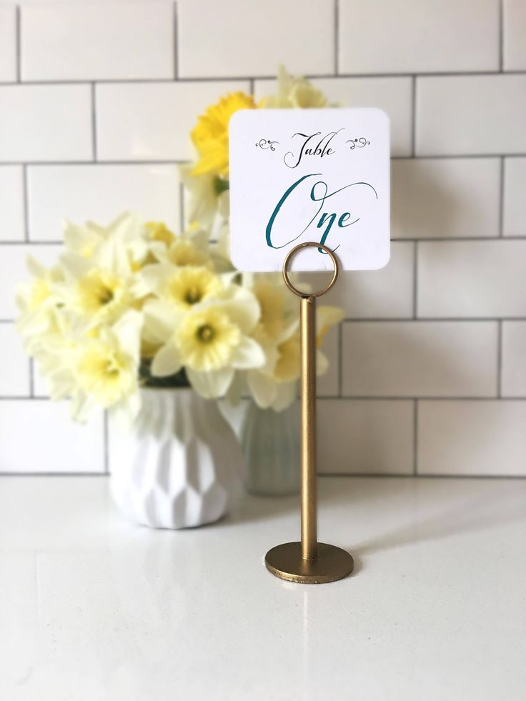 Gold Table Number Holders - Gold Menu Holders - Gold Table Number Stands - Gold Wedding Stands - Gold Wedding by Thestandshop on Etsy https://www.etsy.com/listing/247239805/gold-table-number-holders-gold-menu