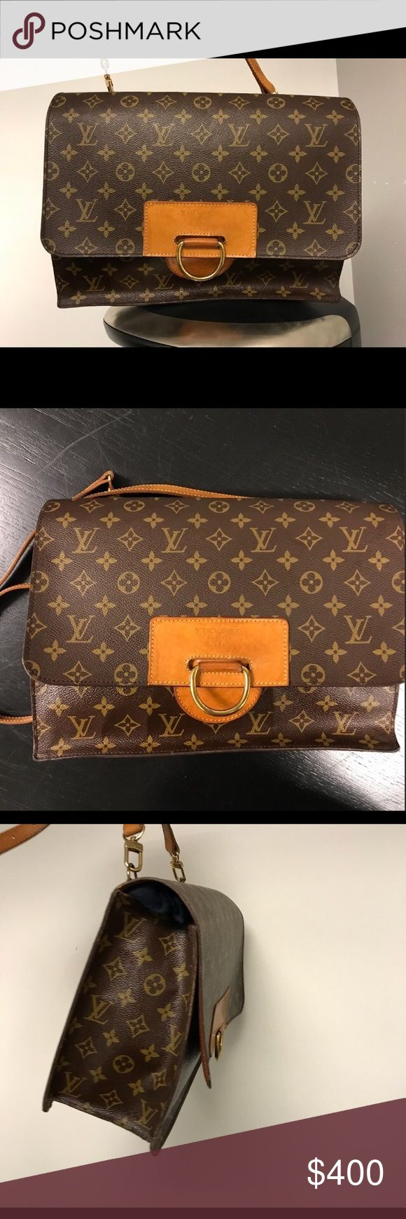 Authentic Louis Vuitton exclusive edition 14. Authentic Vintage Louis Vuitton exclusive edition 14. In good condition except peeling on the inside pockets. I had it authenticated from Pro Authenticators and they stated it's authentic. I bought it here on posh is just to big for me. Louis Vuitton Bags Shoulder Bags