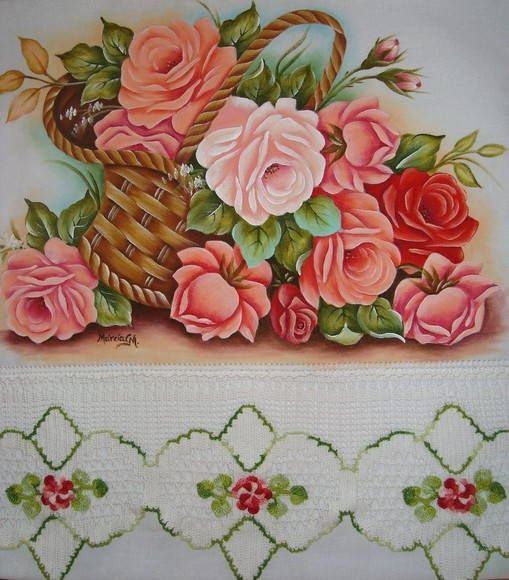 Pano de copa-24 | Artes em Crochê e Pintura | 118899 - Elo7