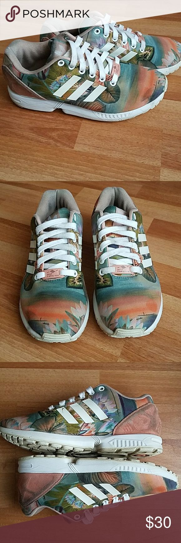 Zx flux adidas torsion Good condition a few flaws as seen on pictures . can fit a size 7.5 adidas Shoes Sneakers