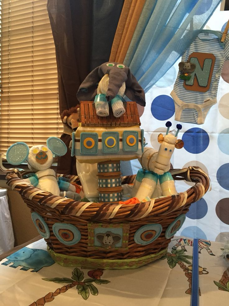 22 best noah 39 s ark baby shower ideas images on pinterest for Noah s ark decorations