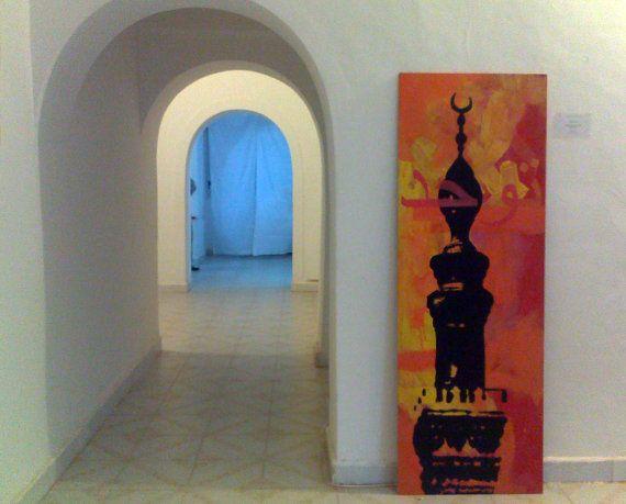 Minaret VIII Original Tempera Painting on board by willemartina, $900.00