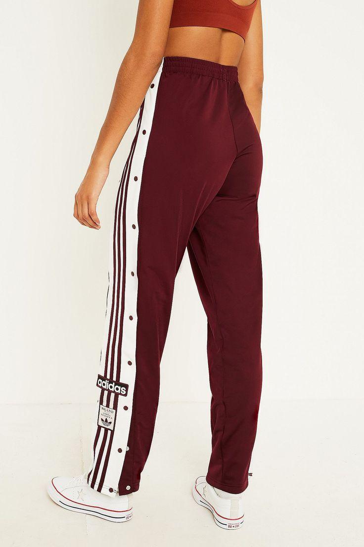 Pants Adibreak Adidas 3 Maroon Track Originals Popper Taping Stripe 2YEHIWDe9
