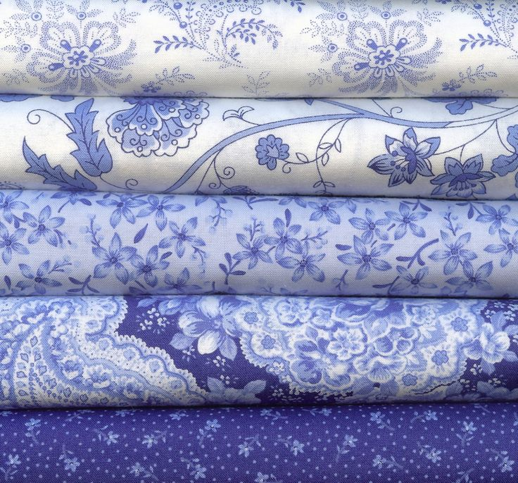 Indigo Reproduction Fabric | ... Studios for Moda 5 Fat Quarters 100 Percent Cotton Quilting Fabric