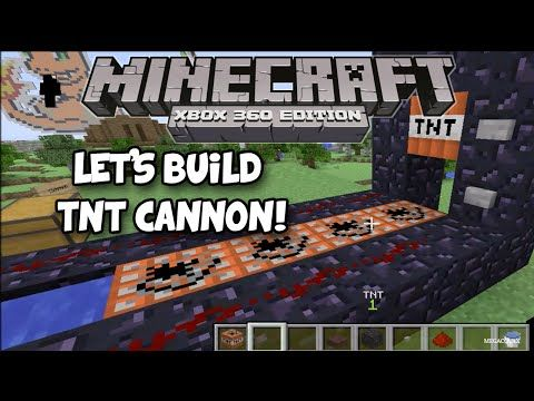 Minecraft Xbox ONE/360: How to make a TNT cannon! - YouTube