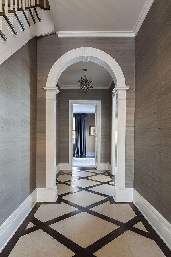 Dramatic hallway - S B Long Interiors