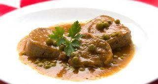 Receta de Lengua en salsa con guisantes Karlos Arguiñano