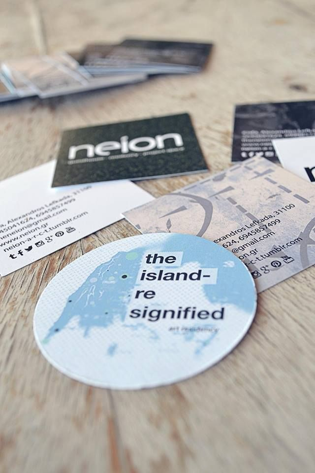 neion new business cards for all neion activities! different and fresh! all for you!