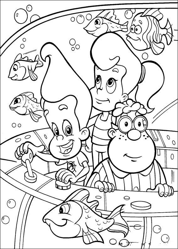 jimmy neutron see schools of fish kids coloring pagesfishcoloring drawingsdrawing