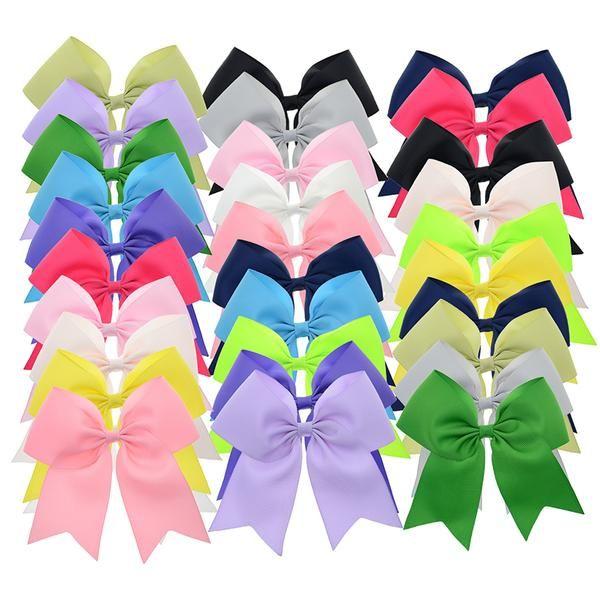 #BestPrice #Fashion 30PCS 5 inch Big Ribbon Cheer Bows with Clips School Hair Bows Women Hair Clip Girls Hair Barrettes Wholesale Hair…