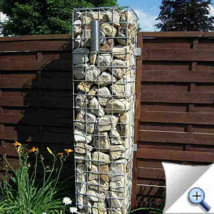 110 best gabion garden features images on pinterest for Garden fence features