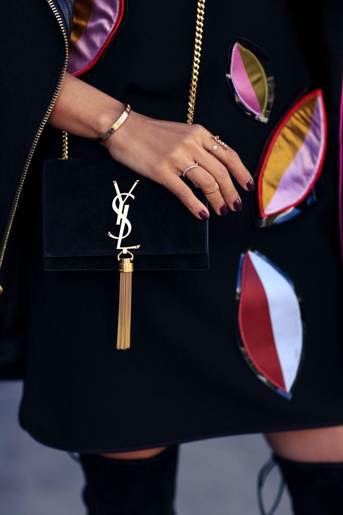 ysl Monogram velvet bag with tassel | { Handbags } | Pinterest ...