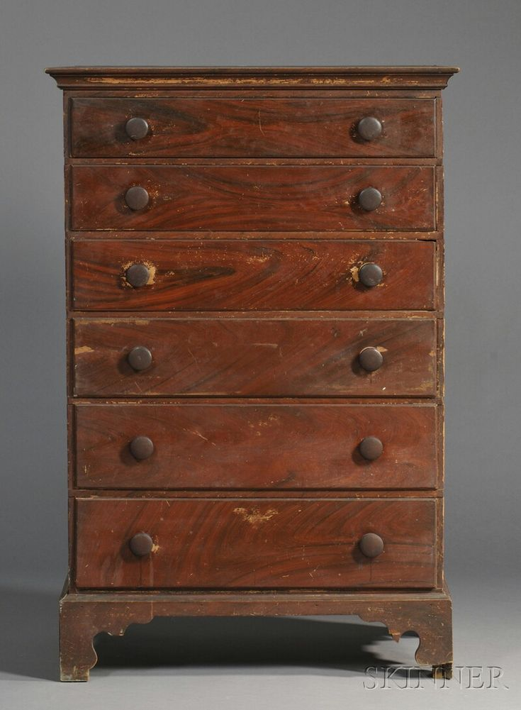 Grain-painted Maple and Pine Tall Chest of Drawers | Sale Number 2618B, Lot Number 106 | Skinner Auctioneers