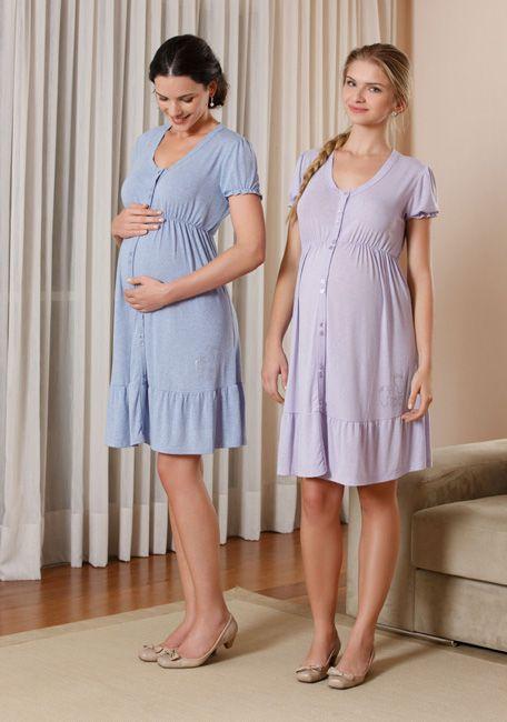 tipos de camisola para maternidade