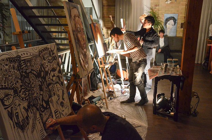 Nuit Blanche - The Spoke Club - Artists at Work Invited by Resourceful Organizer Rupert Young #sbnTO @sbnuitblancheTO