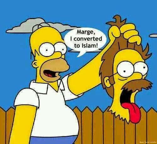 Funny Homer Simpson Islamic Conversion