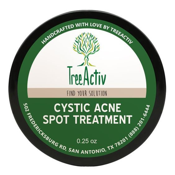 Cystic Acne Spot Treatment - a small, but extremely effective, treatment for visible blemishes. Packed with all-natural ingredients like Bentonite Clay, Tea Tree Water, Witch Hazel & Pink Grapefruit Essential Oil, this treatment calms your skin while eliminating acne from deep within your pores.