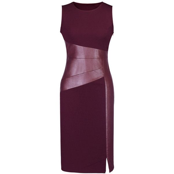 Round Neck Patchwork Cotton Bodycon Dress featuring polyvore women's fashion clothing dresses cotton dresses body conscious dress cotton day dresses purple body con dress purple bodycon dress