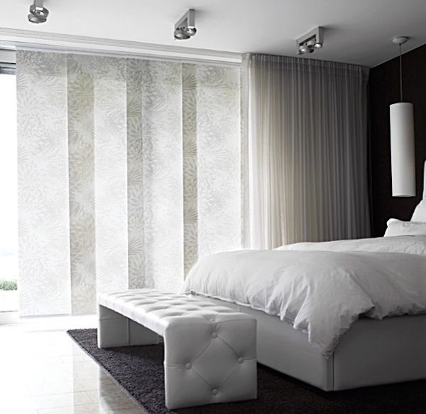 Sheer panel vertical blinds - a modern and elegant look for floor to ceiling windows