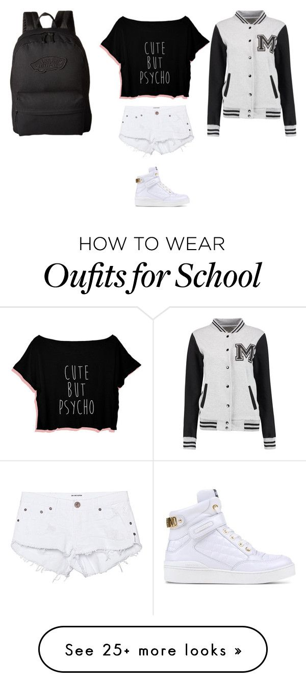 """Last Day Of School!!!!!!!!!!!!!Xd"" by polyvorelover2233 on Polyvore featuring One Teaspoon, Moschino and Vans"