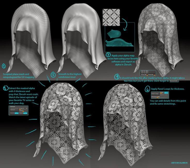 Micromesh tutorial for Amidala's Veil
