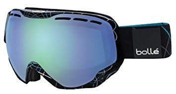 Bolle 21109 Emperor OTG Ski Google, Shiny Black and Blue Loops