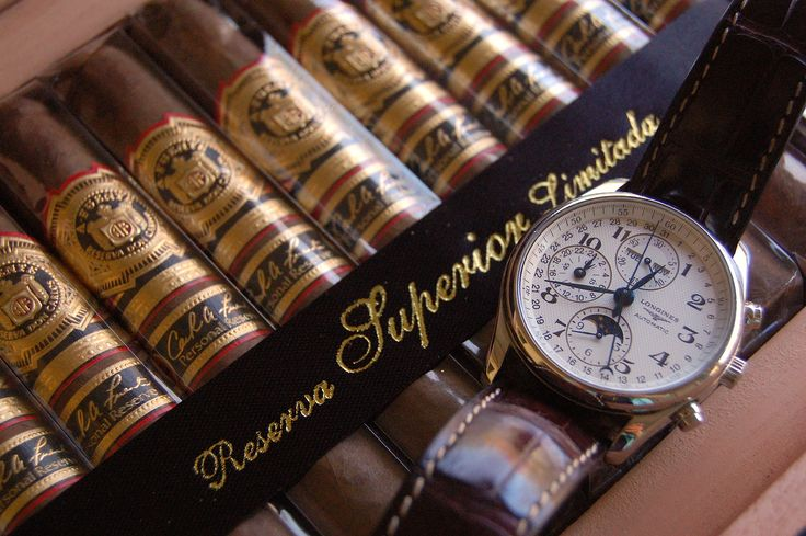 Longines Master Collection Chronograph watch x Fuente Don Carlos Personal Reserve Cigars