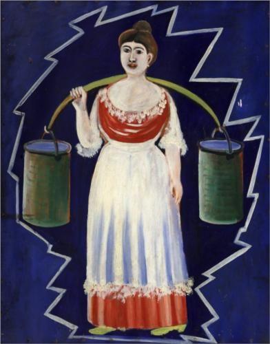 Woman with buckets - Niko Pirosmani