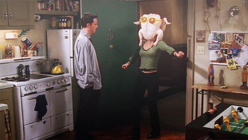 Pin for Later: 55 Times You Wanted to Be Part of the Friends Crew When Monica Shimmies With a Turkey on Her Head