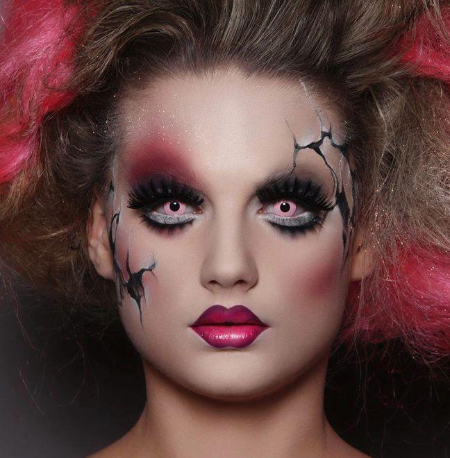 25 best ideas about cracked doll makeup on pinterest fantasy makeup creepy doll halloween. Black Bedroom Furniture Sets. Home Design Ideas