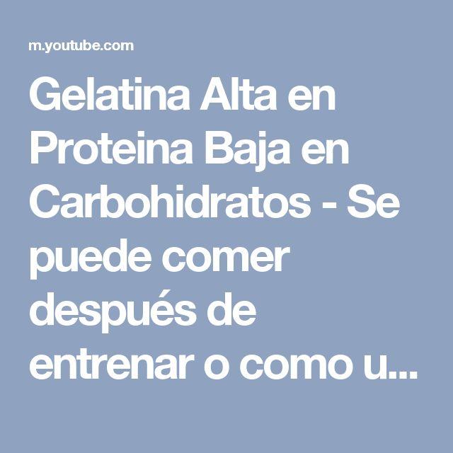 Gelatina Alta en Proteina Baja en Carbohidratos - Se puede
