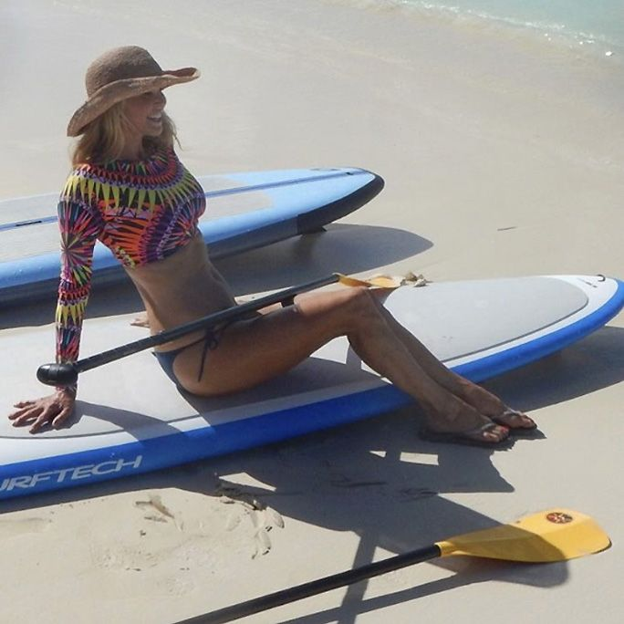 Celebrities in Bikinis 2016 - 61 year old Christie Brinkley puts everyone to shame showing off that gorgeous supermodel body. - from InStyle.com