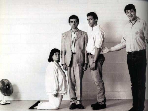 Dawn French, Rowan Atkinson, Hugh Laurie and Stephen Fry