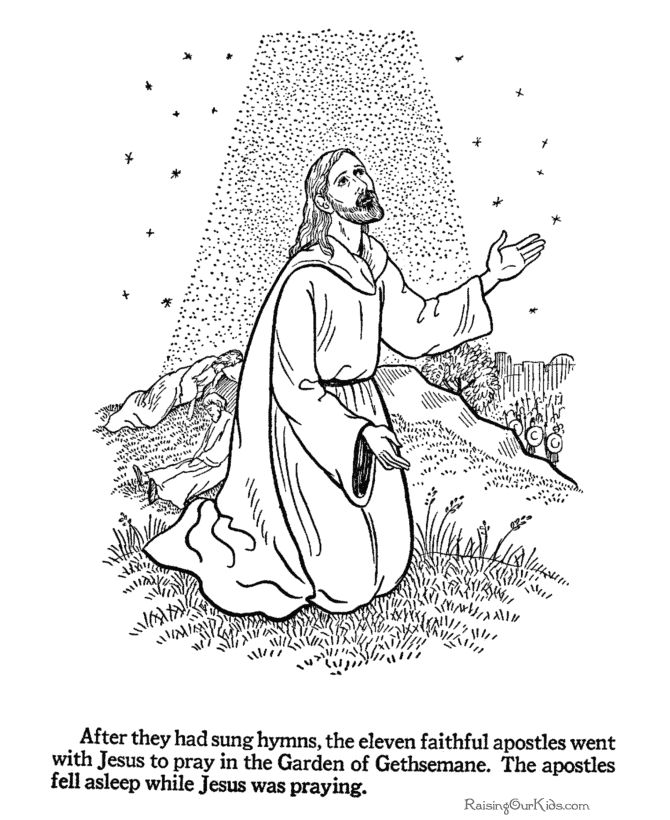 Religious Easter Coloring Pages - 004