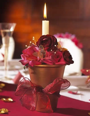 Floral Candle Table Decoration