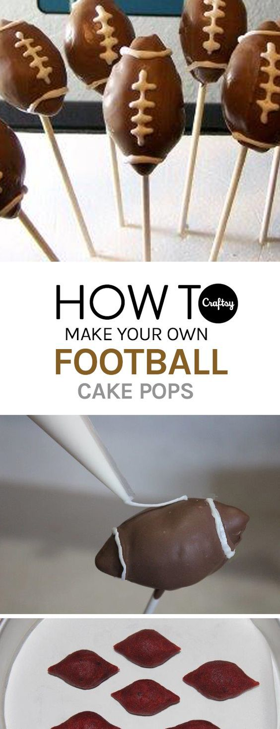 In need of a game day treat? Make some football cake pops for your family of fans.