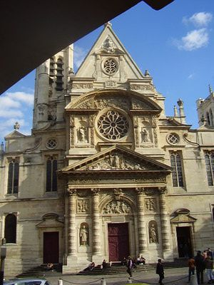 The Latin Quarter: The Saint-Etienne du Mont Church.