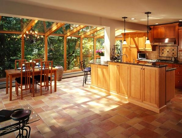75 best wendts remodel images on pinterest woodworking for Kitchen with sunroom attached