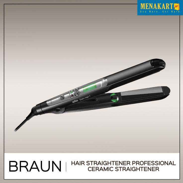 Shop for Braun Hair Straightener Professional Ceramic Straightener Online #Womens #Hairstraightener #Online #Shopping #Menakart